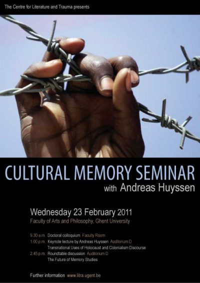 Cultural Memory Seminar with Andreas Huyssen
