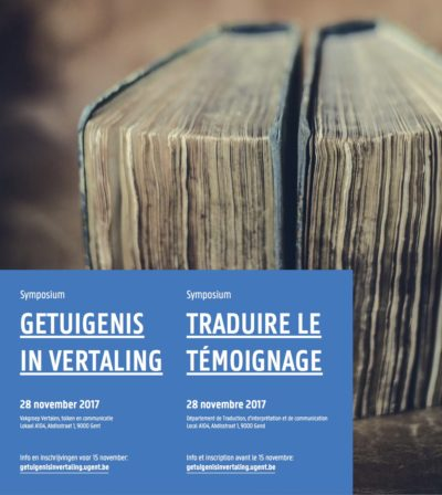 Symposium Programme: Getuigenis in vertaling