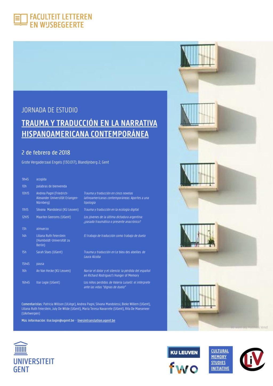 Seminar: Trauma y Traducción en la Narrativa Hispanoamericana Contemporánea