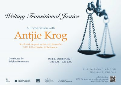 Writing Transitional Justice: A Conversation with Antjie Krog